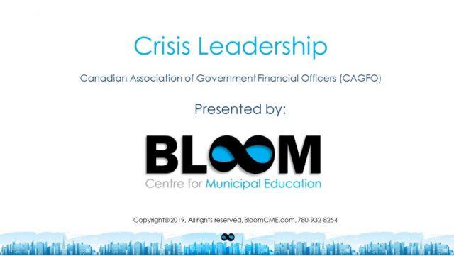 Bloom - Crisis Leadership