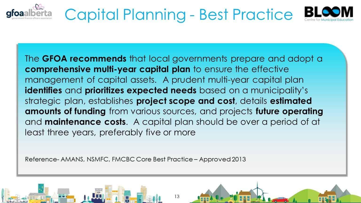 Capital Planning Best Practice