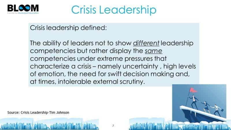 Crisis leadership defined