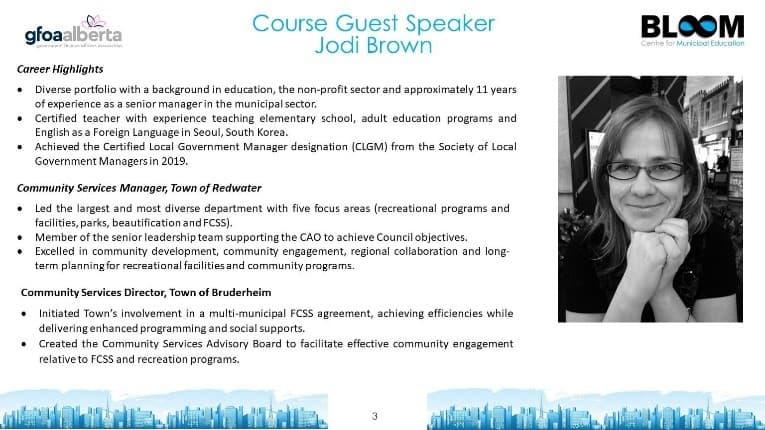 Course guest speaker Jodi Brown
