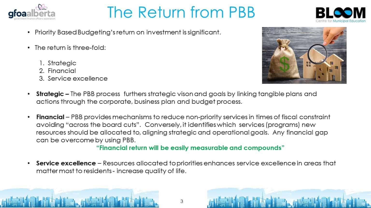 The return from priority based budgeting