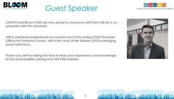 PBB Guest Speaker