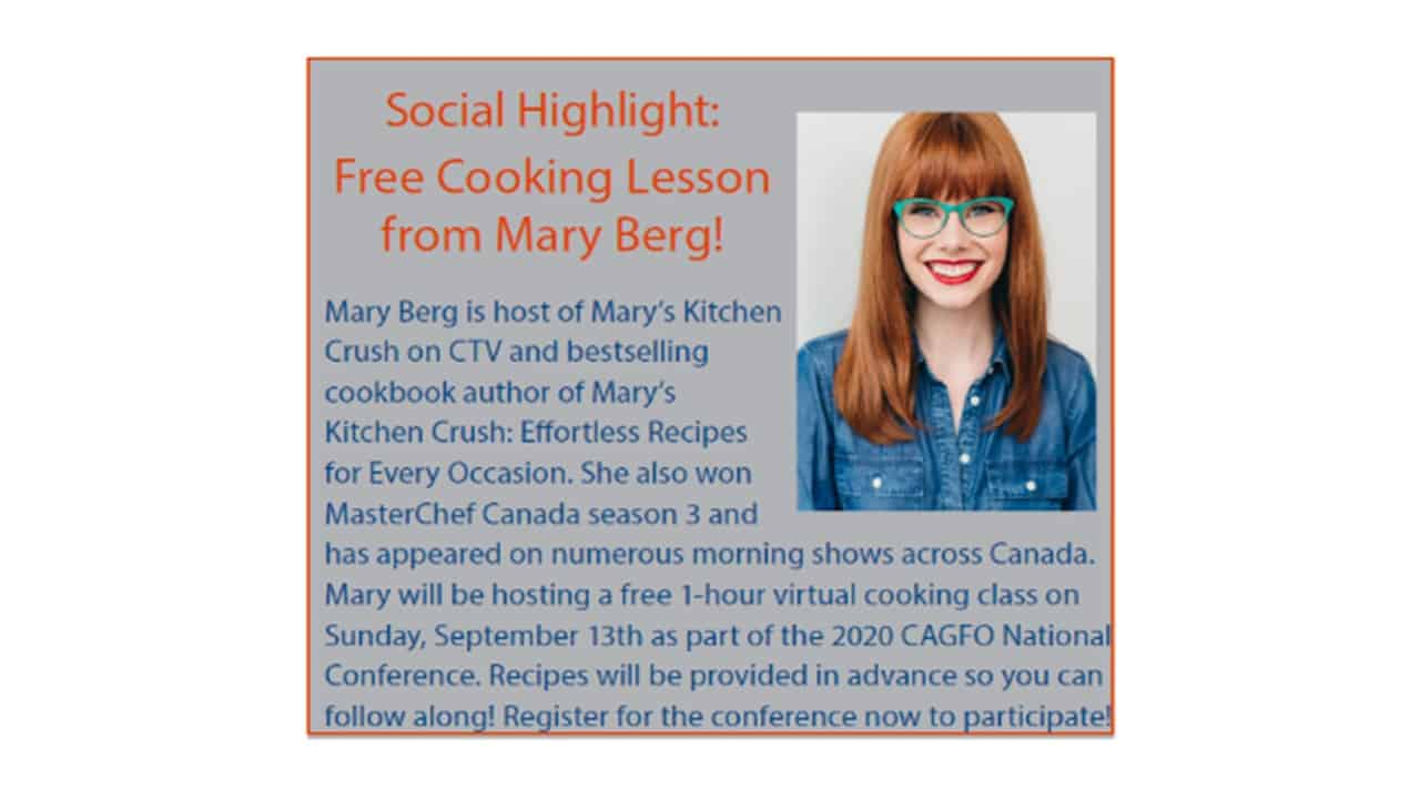 Mary Berg Cooking Lesson